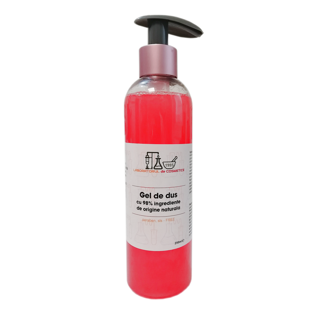Gel de Dus CAPSUNI cu 98% ingrediente naturale, 250ml