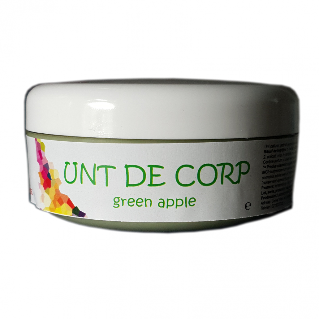 UNT DE CORP NATURAL GREEN-APPLE CU PARFUM MAR VERDE 100G